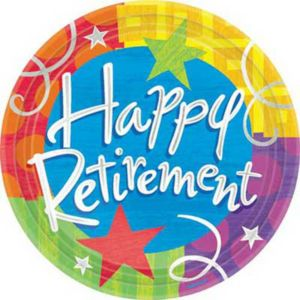 Happy Retirement Lunch Plates 8ct