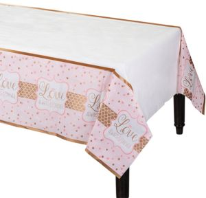 Sparkling Pink Wedding Table Cover
