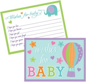 Baby Shower Wishes for Baby Cards 24ct