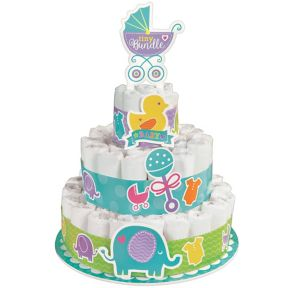 Baby Shower Diaper Cake Kit 16pc