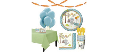 Boys Happi Woodland Party Supplies Basic Party Kit