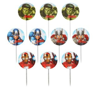 Avengers Cupcake Picks 24ct