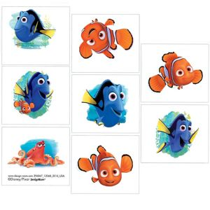 Finding Dory Tattoos 1 Sheet