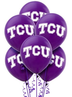 TCU Horned Frogs Balloons 10ct