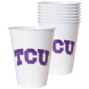 TCU Horned Frogs Plastic Cups 8ct