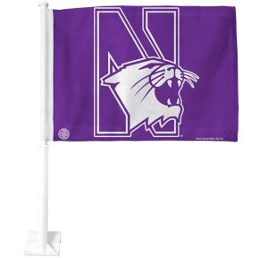 Northwestern Wildcats Car Flag