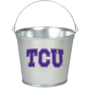 TCU Horned Frogs Galvanized Bucket