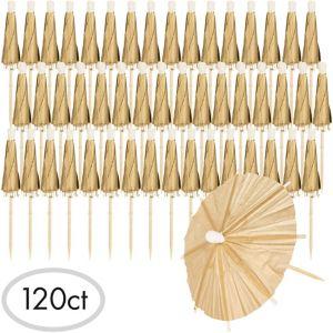 Gold Umbrella Picks 120ct