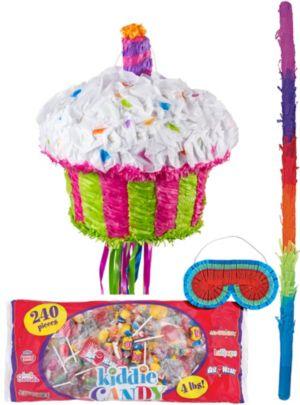 Pull String Birthday Cupcake Pinata Kit