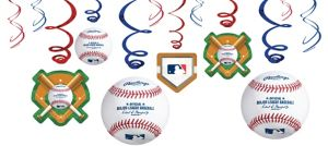 Rawlings Baseball Swirl Decorations 12ct