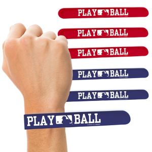 MLB Baseball Slap Bracelets 6ct