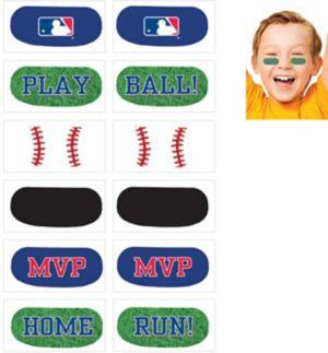 MLB Baseball Eye Black Tattoos 1 Sheet