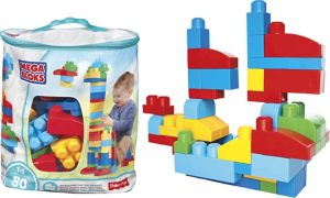 Blue Mega Bloks Big Building Bag Playset 80pc