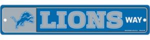 Detroit Lions End Zone Sign