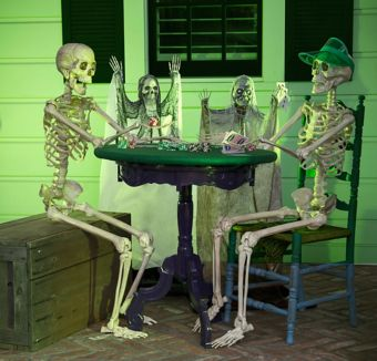 Halloween Skeleton Poker Table Decorating Kit