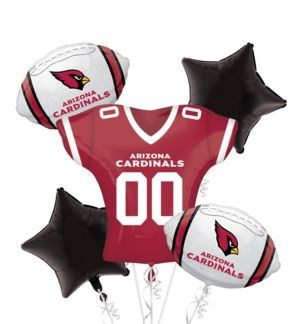 Arizona Cardinals Jersey Balloon Bouquet 5pc