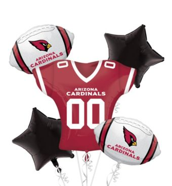 Arizona Cardinals Jersey Balloon Bouquet 5pc