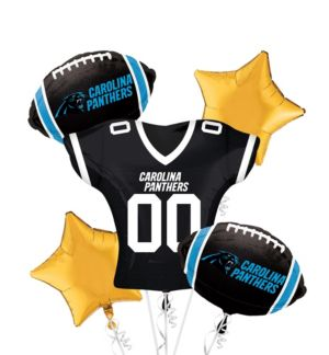 Carolina Panthers Jersey Balloon Bouquet 5pc