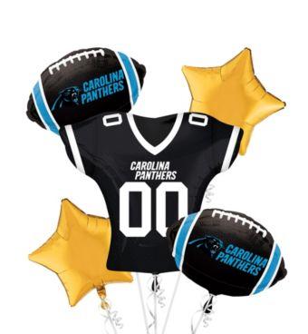 Carolina Panthers Jersey Balloon Bouquet 5pc
