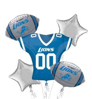 Detroit Lions Jersey Balloon Bouquet 5pc