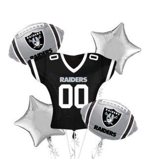 Oakland Raiders Jersey Balloon Bouquet 5pc
