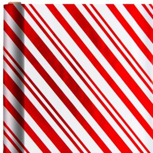 Metallic Candy Cane Gift Wrap