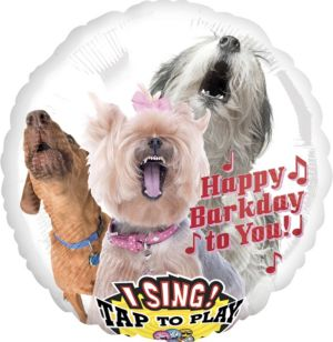 Happy Birthday Dog Balloon - Singing