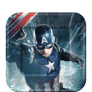 Captain America: Civil War Dessert Plates 8ct