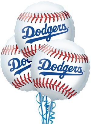 Los Angeles Dodgers Balloons 3ct - Baseball