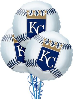 Kansas City Royals Baseball Balloons 3ct