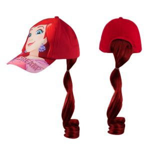 Child Ariel Baseball Hat with Ponytail - The Little Mermaid
