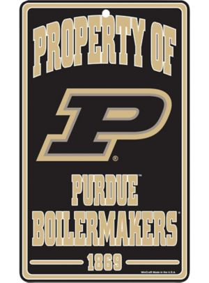 Property of Purdue Boilermakers Sign