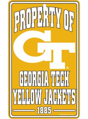 Property of Georgia Tech Yellow Jackets Sign
