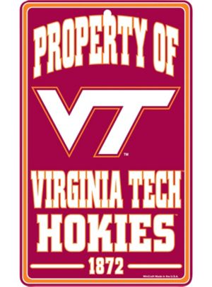 Property of Virginia Tech Hokies Sign