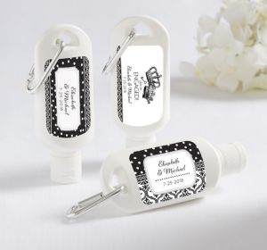 PERSONALIZED Sunscreen Wedding Favors (Printed Label) (We're Engaged Crowns)
