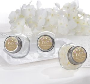 PERSONALIZED Wedding Glass Candy Jars (Printed Label) (I Do)