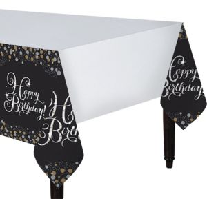 Happy Birthday Table Cover - Sparkling Celebration