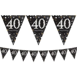 Prismatic 40th Birthday Pennant Banner - Sparkling Celebration