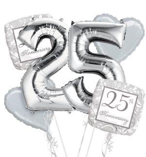 25th Anniversary Balloon Bouquet No 25