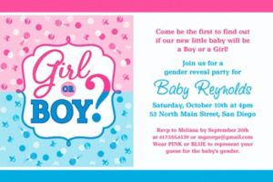 Custom Girl or Boy Gender Reveal Invitation