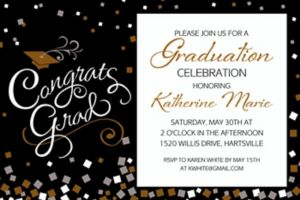 Custom Congrats Graduation Invitation