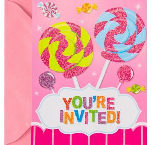 Glitter Candy Shoppe Invitations 8ct