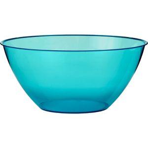 Large Caribbean Blue Plastic Bowl