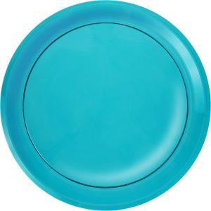 Caribbean Blue Plastic Round Platter
