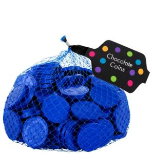 Small Royal Blue Chocolate Coins 125pc