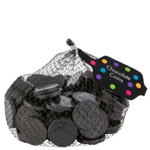 Small Black Chocolate Coins 125pc