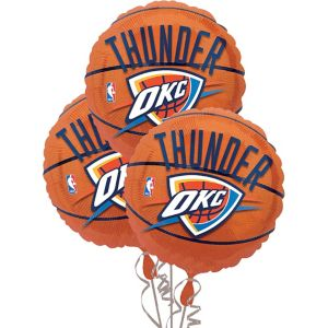Oklahoma City Thunder Balloons 3ct - Basketball