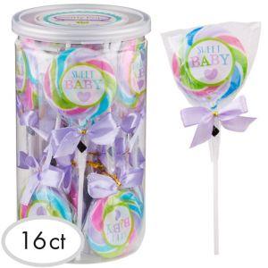Baby Shower Swirly Lollipops 16ct