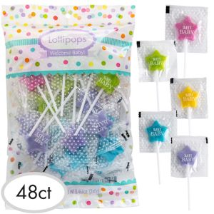Baby Shower Star Lollipops 48ct