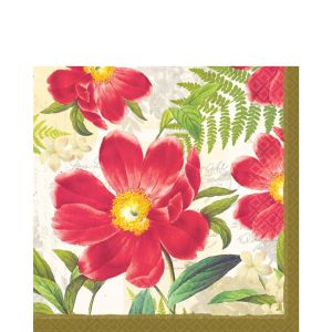 Botanical Peony Lunch Napkins 16ct